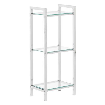 Premier Housewares 3 Tier Shelf Unit with Tempered Glass